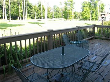 Deck view out back onto golf course