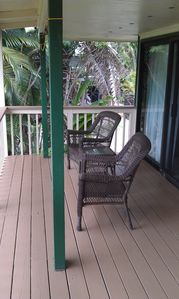 Outside deck