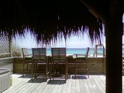 New Palapa Hut and view from porch!