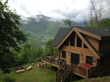 Maggie Valley cabin rental - Our view is not hidden with trees.