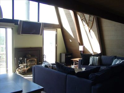 Living Room, TV, Wood Stove