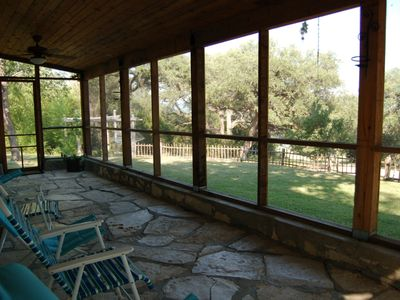 Lago Vista cabin rental - View from the front porch