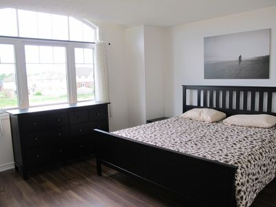 Master bedroom with king size bed