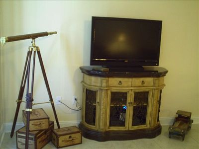 42' flat screen w/ DVD and sound system