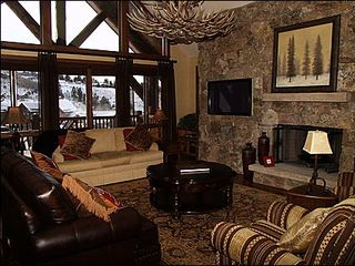 Avon house photo - Great Room - Gas Fireplace, Large TV, Private Balcony