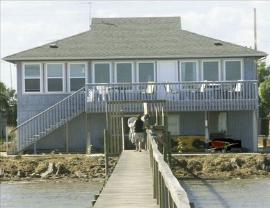 Water side of house from the Pier