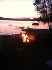 Newfound Lake condo photo - Outdoor Fireplace right on the Water