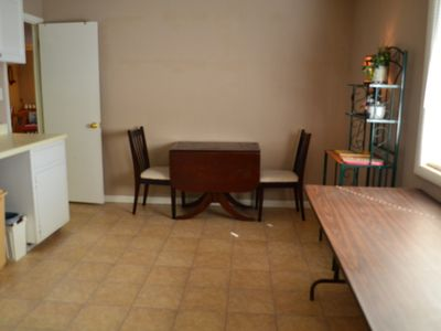 Large Laundry Room offers additional space for table for 2