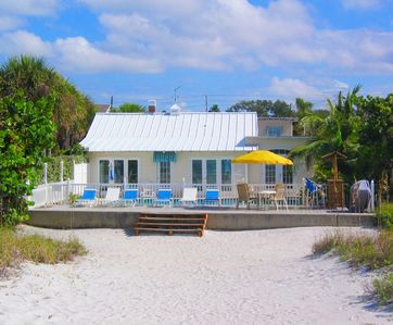 Indian Rocks Beach house rental - Step from the deck to the sandy beach