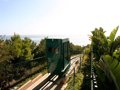 Take the Funicular down to the beach