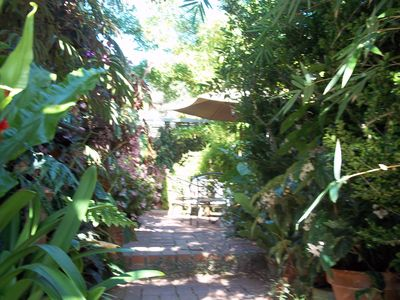 Entrance to your private rental, garden paradise, sounds of birds and nature!
