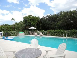 Vero Beach house photo - Listen to ocean from private backyard. Beautiful heated resort size pool!