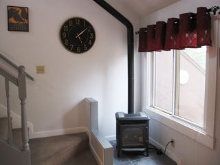 Burke condo photo - Enjoy the ambiance of our gas-fired stove