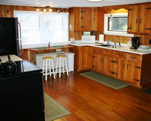 Gilmanton cottage photo - Roomy Country Kitchen - full size appliances