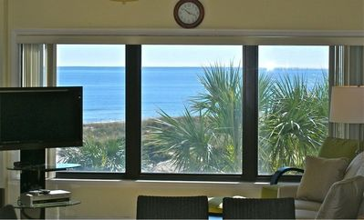 Amelia Island condo rental - Enjoy this ocean beautiful view from the living room, dining area and kitchen.