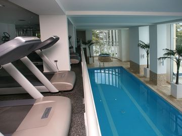 Gym and Indoor lap pool