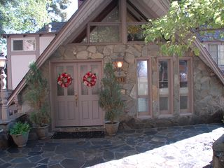 The entrance to the home. - Lake Arrowhead house vacation rental photo