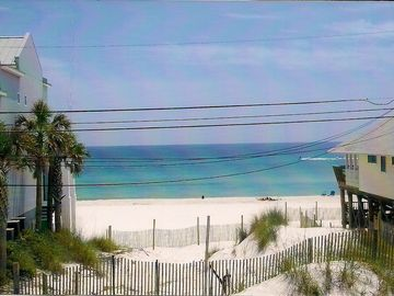 View from our deck. A view of the gulf from almost every room