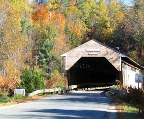 Bath cabin photo - The Swiftwater Covered Bridge as you enter the property!