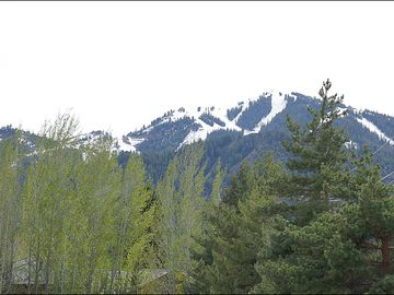 Ketchum condo rental - Enjoy this Great View of Baldy from your Patio & Balcony.