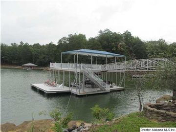 Lewis Smith Lake house rental - Custom Double Deck Dock with boat slip and two jet ski pads.