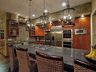 Coronado house photo - New modern Stone kitchen counters with large island. Nice entertaining area.