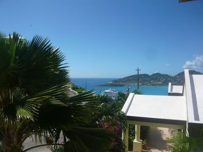 Philipsburg condo rental - Street side balcony view