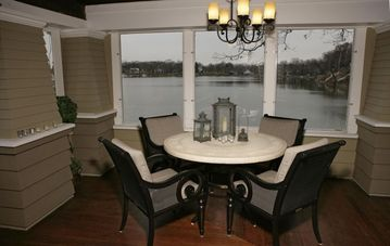 Porch Dining Table with Lake Views