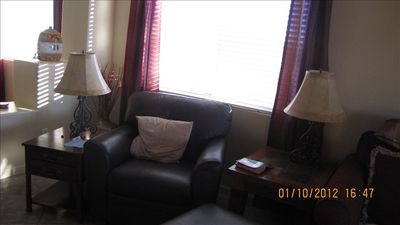 Marana house rental - Comfy reading/TV chair in the great room invites you to relax.