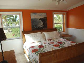 Great Exuma house photo - 2nd Bedroom with King Ethan Allen sleigh bed, armoire and side table