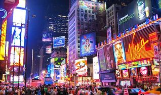 Midtown Manhattan apartment photo - Times Square Night Time just 4 Blocks away