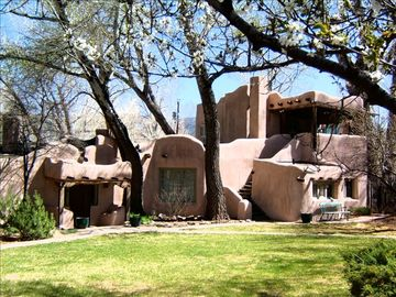 Taos estate rental - Springtime at The Historic Home, Once part of the Mable Dodge Luhan Estate