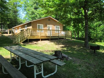 Exterior, picnic table, grill & fire pit