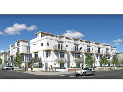 Exterior of Hollywood Colony.  These are stand alone homes.  (artist rendering)