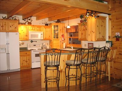 Custom Built knotty pine kitchen