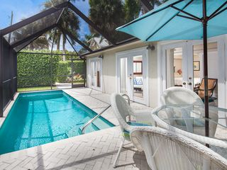 Old Naples house photo - Heated Swimming Pool with Screened Lanai
