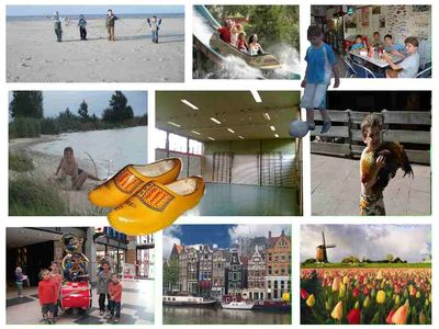Whilst doing sports trips to Amsterdam, theme parks,bulbs fields, beach or farm.