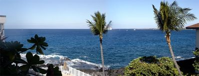 Kailua Kona condo rental - A panoramic view from the lanai