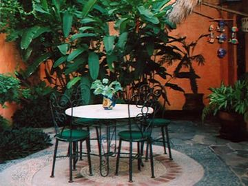SMALL QUAINT BACK PATIO FOR MORNING CUP OF COFFEE