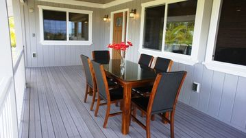 Upstairs Lanai - The Upper Lanai is a wonderful place to enjoy your meals outside.