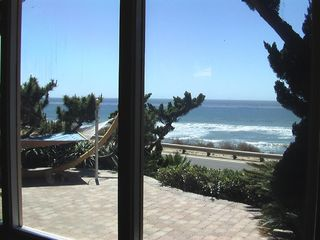 San Diego house photo - Living Room View To Oceanfront Patio w Hamock
