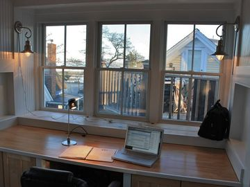 Tree-top study desk - with harbor view
