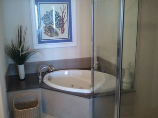 Belmont Towers Ocean City condo photo - Jetted Tub with separate Shower in Master Bath