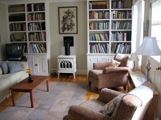 Truro house photo - Living room and books