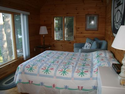 Westport Island cottage rental - Guest Queen Bedroom...