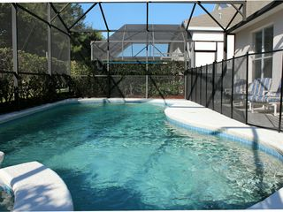 Windsor Palms villa photo - 33' South-facing pool with toddler safety fence