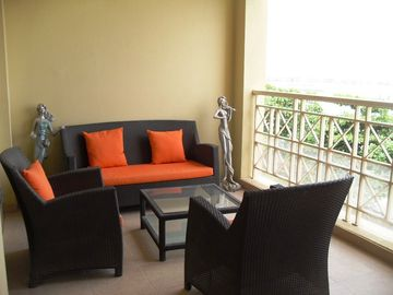 Furnished balcony to a high standard