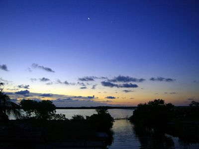 Big Pine Key house rental - Sunrise from the deck or the master bedrm pillow..