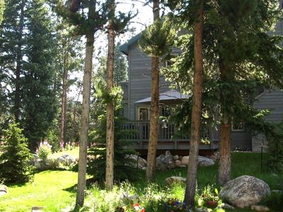 Our lodge is nestled in the woods but just an easy flat 10 min walk to Main St.