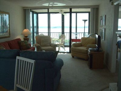 Living Room overlooking Gulf